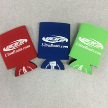 Koozies in Green, Blue, Red